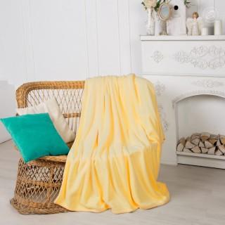 Плед махровый Velvet Желтый