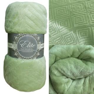 Плед Absolute тиснение коллекция Элит зеленый