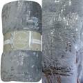 Плед Absolute тиснение коллекция Шик серебро