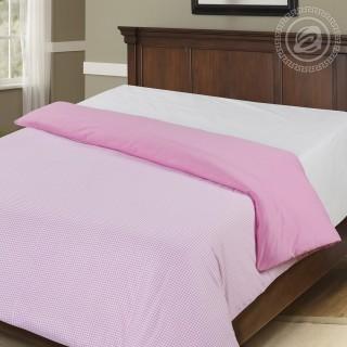 Пододеяльник на молнии Клетка розовая 1,5-спальный