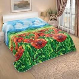 """Одеяло-покрывало стёганое """"Алые маки"""""""