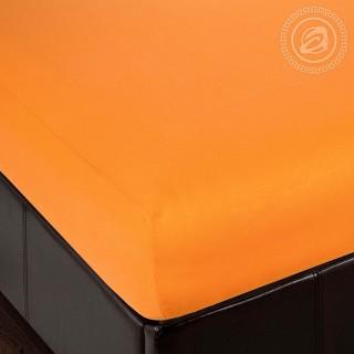 Простыня трикотажная на резинке «Апельсин»