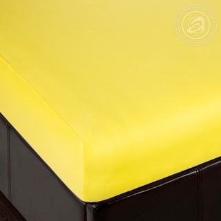 Простыня трикотажная на резинке «Лимон»