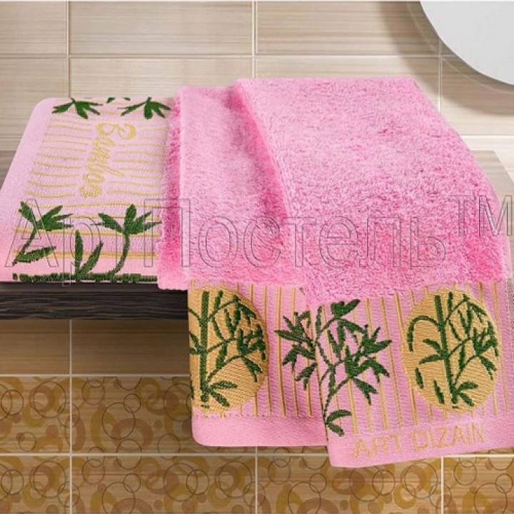 Комплект полотенец (бамбук) Розовый
