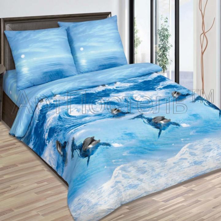 Постельное белье - Дельфины
