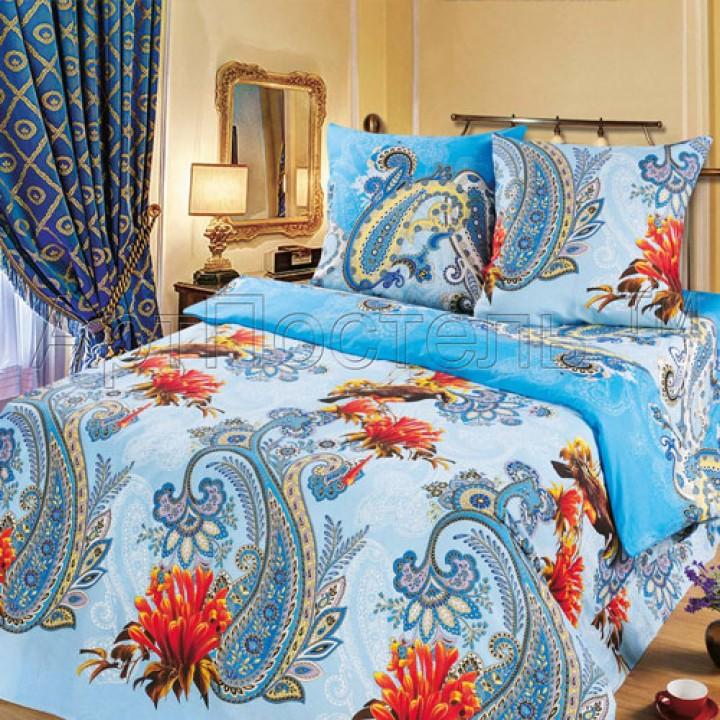 Постельное белье - Колибри (синий)
